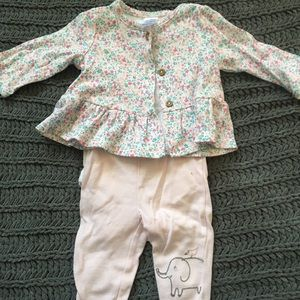 Little and love outfit set. 3 months. (3 pieces)